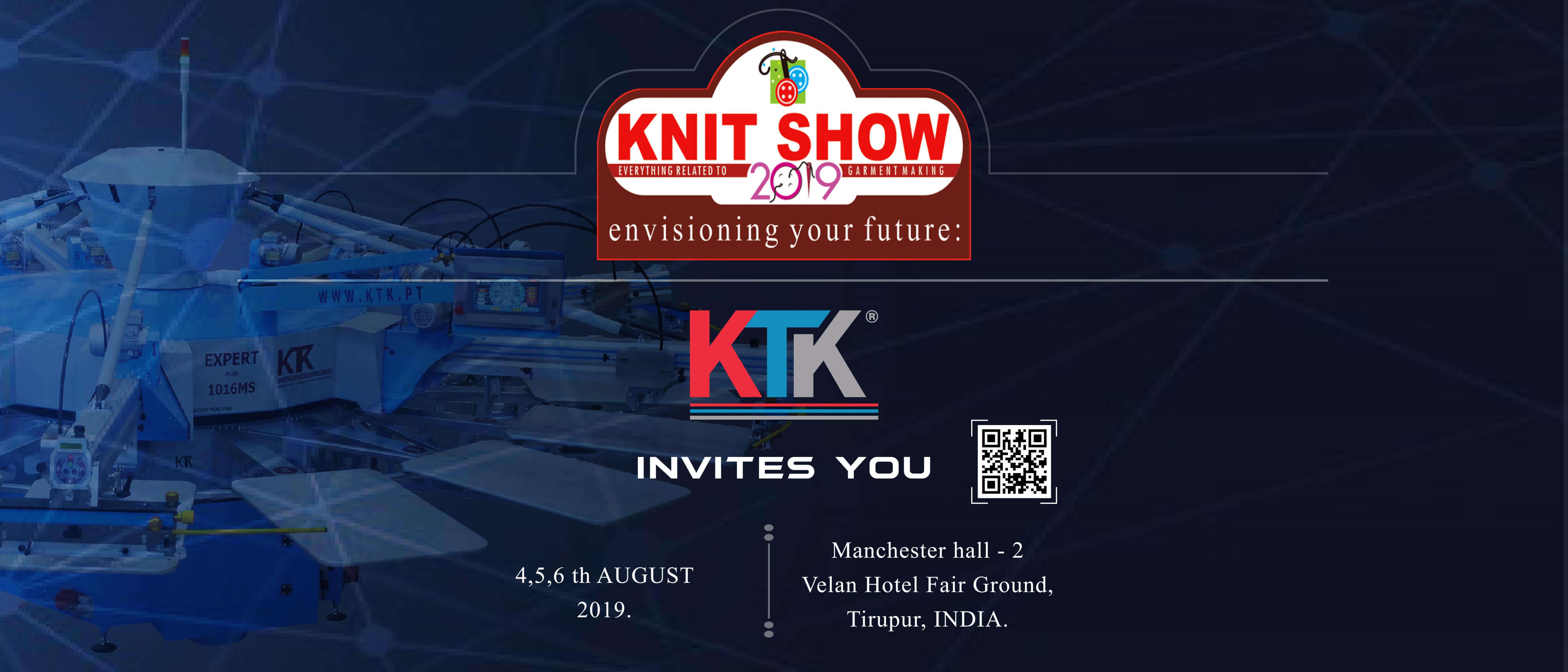 A KTK está de volta à Índia para mais uma edição do KNIT SHOW!