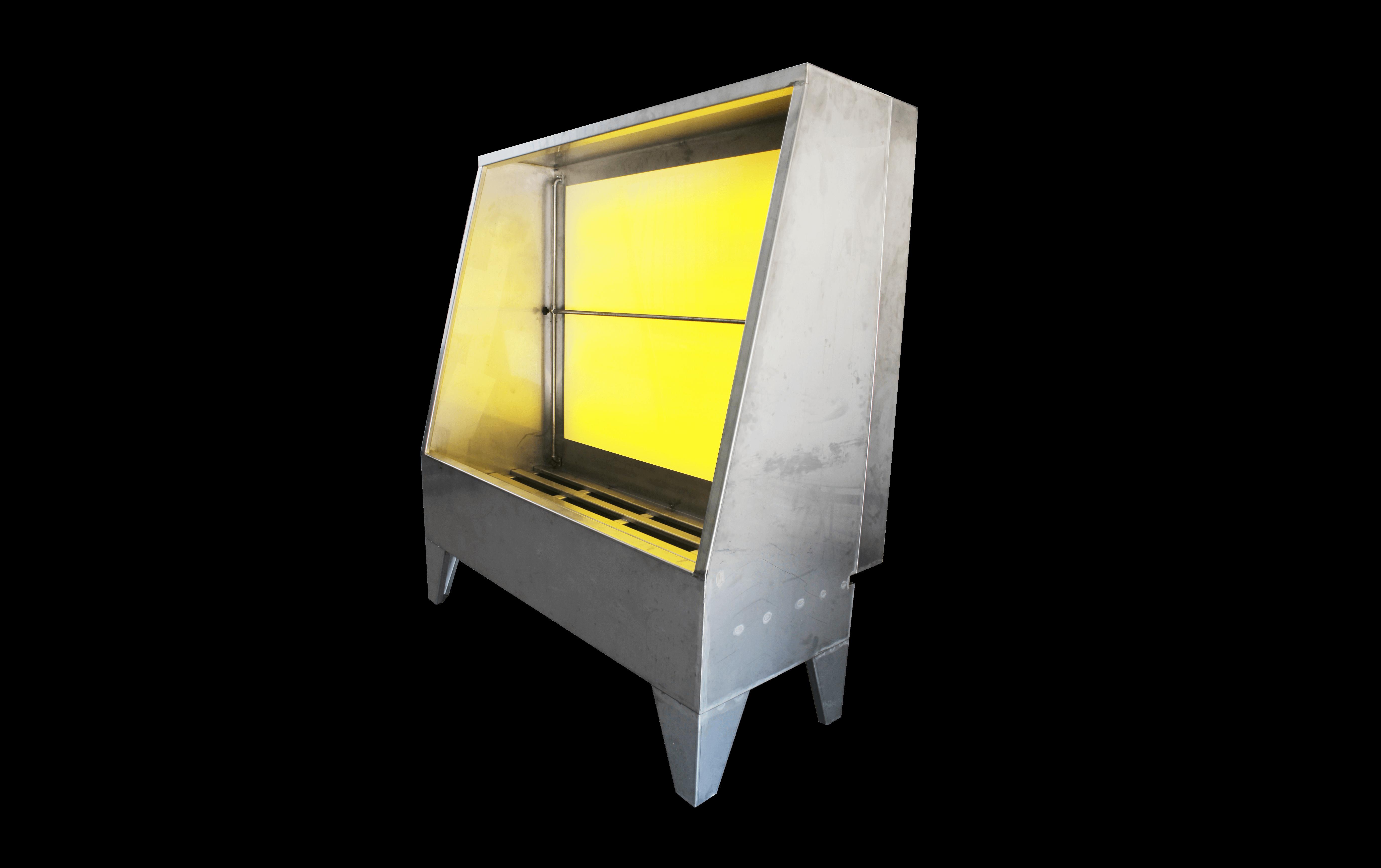 Cabina para apertura de marcos para serigrafía y cabina de limpieza